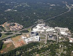 Aerial view of the Allister and North Hills!