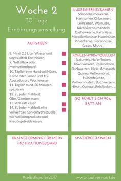 30 Tage Ernährungsumstellung - Wie Du in 30 Tagen deine Ernährung revolutionierst, Woche 2 #selbstlaeufer2017