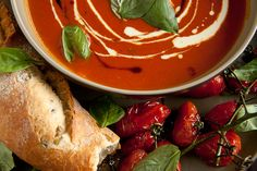 Roasted Tomato & Basil Soup