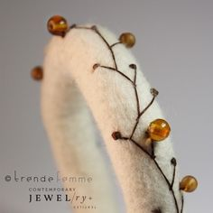 Hand Felted Bangle  Autumn Berries  Made to Order by TrendeFemme, $28.00