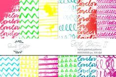 Sketchy Patterns 2 - Collor Pop Image