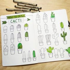 How to Draw a Cactus for the Bullet Journal Bujo Calligraphy Drawing Tutorial Dessin . - Architecture and Art - How To Draw A Cactus For The Bullet Journal Bujo Calligraphy Drawing Tutorial Dessin …, # - Bullet Journal Inspo, Bullet Journal Aesthetic, Bullet Journal Notebook, Bullet Journal 2019, Bullet Journal Ideas Pages, Bullet Journals, Doodle Drawings, Easy Drawings, Dragon Drawings