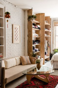 open living room // white and wood living room ideas