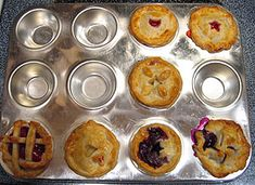Mini pies...thinking of making these for Thanksgiving or maybe our small group tea party?