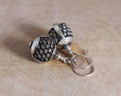 Balinese Sterling Silver Bead Dangle Earrings by LindseySilberman