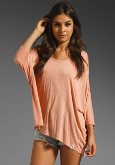 MICHAEL LAUREN Morris Oversized Open Shoulder Top