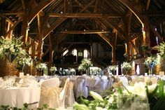 Cooling Castle Barn, Kent  Can't decide whether you want a barn or castle wedding venue? Well, at Cooling Castle Barn, you can have both. Choose from three beautiful barns, and pose outside the picture-perfect castle for a few photos...
