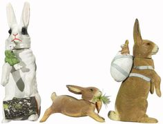 Composition Rabbit Candy Containers