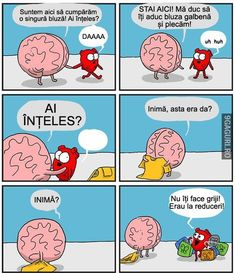 Heart and Brain go for a quick shopping trip to pick up a necessary item. By The Awkward Yeti this pin is just one of many funny strips by this cartoonist. Make Em Laugh, Have A Laugh, Laugh Out Loud, Funny Cute, The Funny, Hilarious, Cute Comics, Funny Comics, Funny Pins