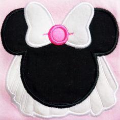 Girl Mouse Bride  Applique Machine Embroidery by AppliquesByMe