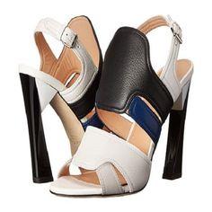 Calvin Klein Collection EU 39.5 US 9M Verushka Leather Heels. MSRP $995.00 #CalvinKleinCollection #OpenToeHeels