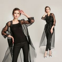 2016 Women summer coat solid silk transparent sunscreen long trench coats v-neck casual ladies trench size M-L KM1784