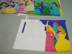 Proceso de coloreado usando una gama policromática con rotuladores de colores sobre una abstracción en papel. Flag, Country, Logos, Art, Paper Envelopes, Craft Art, Rural Area, Kunst, Country Music