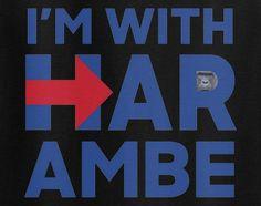 I'm with Harambe Hillary Hilary Clinton President parody 2016 elections