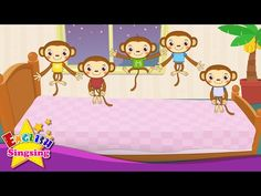 Five Little Monkeys Jumping on the Bed - Nursery Popular Rhymes - English Song For Kids - Music - YouTube