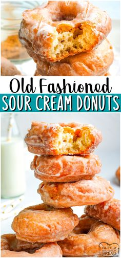 Donut Recipe From Scratch, Easy Donut Recipe, Dessert From Scratch, Cake Recipes From Scratch, Donut Recipes, Baked Sour Cream Donut Recipe, Donut Recipe No Yeast, Bean Recipes, Homemade Donuts