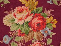 258 Best Barkcloth Vintage Fabric Images Fabric Vintage