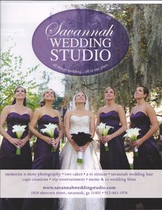 These are my wedding colors! well the eggplant. i like the white vs purple bouquets
