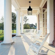 porches- I want a big porch! Future House, House, French Doors, Porch Columns, Big Porch, Outdoor Living, House Exterior, Veranda Interiors, Beautiful Homes
