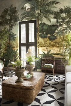 The latest issue of Elle Decor published a ravishing home tour of fashion designer Johanna Ortiz's Cartagena home and I am smitten with every room and corner. Being married to a Colombian, I had the… View Post Tropical Interior, Tropical Home Decor, Tropical Houses, Tropical Pool, Tropical Style, West Indies Decor, West Indies Style, British Colonial Decor, Colonial House Decor