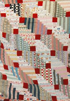 Housetops by Deb Rowden   2010   Deb's wall quilt is one of my favorite quilts.       Vintage quilt top---1950s   Her inspiration was a f...