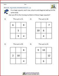 3x3 magic square normal set 2 worksheet magic square worksheet magische quadrate mathe. Black Bedroom Furniture Sets. Home Design Ideas