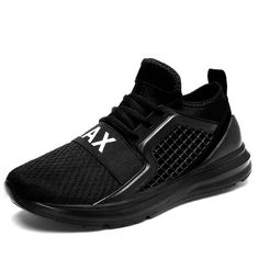 official photos 23a3c f15cd Transpirable Zapatos para correr para hombre negro blanco Zapatos de deporte  Zapatillas de deporte de los
