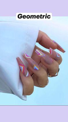 Classy Nails, Stylish Nails, Trendy Nails, Dope Nail Designs, Acrylic Nail Designs, July 4th Nails Designs, 4th Of July Nails, Gucci Nails, Glow Nails