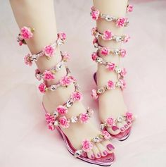 Latest Fashion Diamond Sandal For Sexy Women'S Hand Made Pink ...