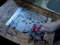 waterless lithography, algrafia, aluminografia, litografia alternativa.