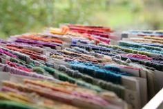 Handweberei Rosenwinkel - Gefärbte Stoffe