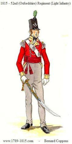 Ufficiale del 52 rgt. fanteria leggera inglese