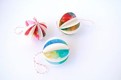Holiday Card Ornaments using Christmas cards