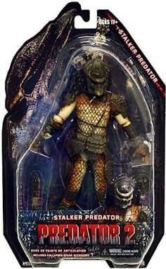 NECA Predator 2 Movie Series 5 Action Figure Stalker Predator by NECA. $18.27. This amazing collection of all-new Predator figures is based on the lost tribe of Predators seen in Predator 2. Many of these are action figure first, never before seen in action figure form, all with improved articulation including double knee joints and ball jointed hips. This the Stalker Predator has over 25 points of articulation and comes with movie-specific accessories. Blister card packagin...