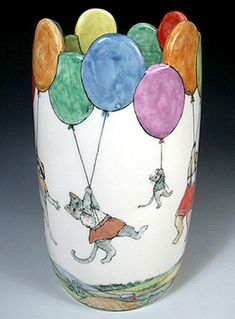 Hand Painted Pottery by Nan Hamilton in Boston MA