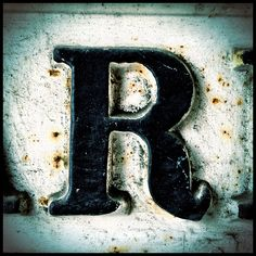 Graphic design typography letter alphabet art R
