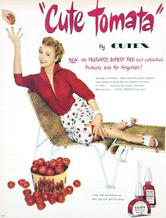 CUTE TOMATO #cutex #vintage #red