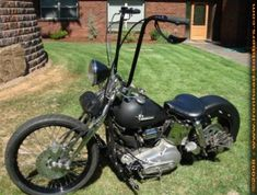Photo of Harley Bobber with 1973 Ironhead Engine in 1991 Sportster Frame by James