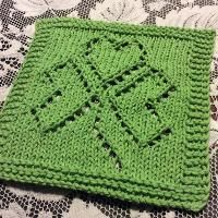 St. Patricks Day shamrock dishcloth free knit pattern