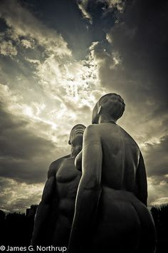 """""""Redemption Song"""", the name of these bronze statues at Jamaica's Emancipation Park."""