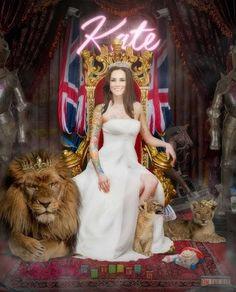 People's Princess by JJ Adams #art #artist #JJAdams #katemiddleton #queen…
