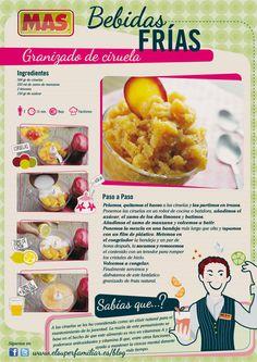#InfoReceta para aprender a hacer #Granizado de ciruelas, ¿te animas?  #recetas #infografias #infographic #recipes
