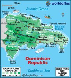 República Dominicana está América del Norte.  La capital es  Santo Domingo.  Yo quiero ir a República Dominicana, porque intersante.