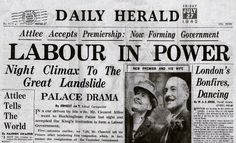 The day after the Labour Party's general election victory, 26 July 1945