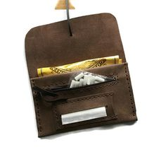 Rolling Cigarette Case Smoking Wallet Leather by FeltAppStudio