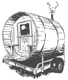 belgan mobile sauna rental Mobile Sauna, Permaculture, Tiny House, Darth Vader, Character, Tiny Houses, Lettering