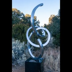 Material: Stainless Steel Height: Turning Radius: Base: x x Granite Base Year Created: 2018 Outdoor Sculpture, Sculpture Art, Sculptures For Sale, Granite, Door Handles, Stainless Steel, Modern, Home Decor, Door Knobs