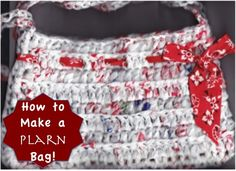 How to Make a Plarn Bag {Crochet + Recycled Bags!} at TheFrugalGirls.com #plarn #crochet #bags