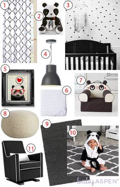 There's something so cute about a baby panda themed nursery! Get the look with these modern inspirations.