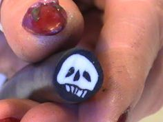 ...Make It With Me: Polymer Clay Skull Cane.